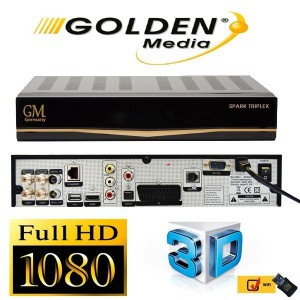 HD ПРИЕМНИК GOLDEN MEDIA SPARK TRIPLEX (S2 + S2 + T2/C)